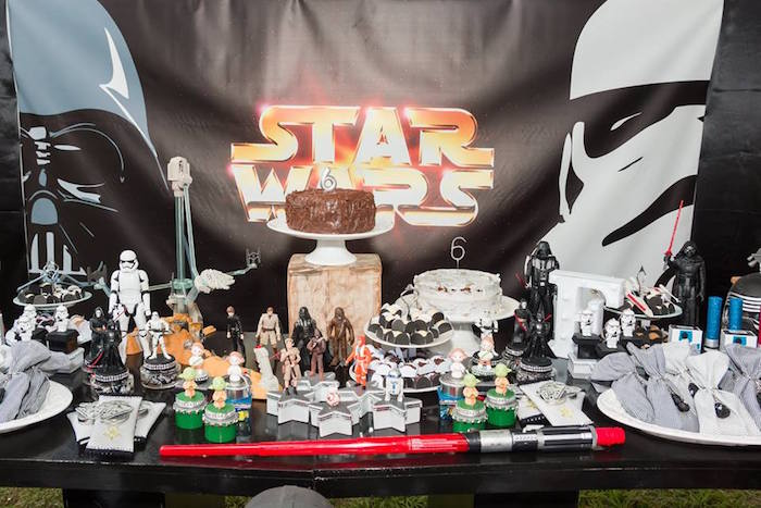 Star Wars Sweet Table from a Star Wars Birthday Party on Kara's Party Ideas | KarasPartyIdeas.com (15)