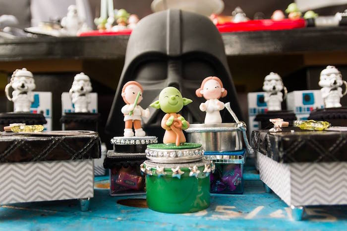 Star Wars Character Tins + Boxes from a Star Wars Birthday Party on Kara's Party Ideas | KarasPartyIdeas.com (14)