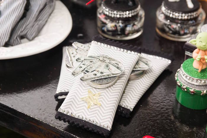 Millennium Falcon Favors from a Star Wars Birthday Party on Kara's Party Ideas | KarasPartyIdeas.com (13)