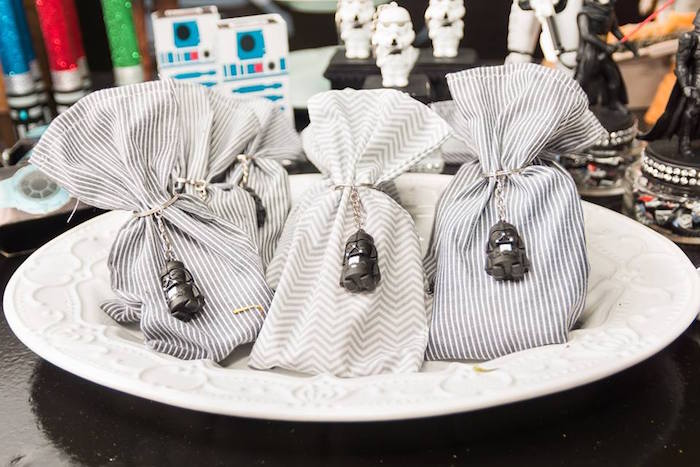 Darth Vader Favor Pouches from a Star Wars Birthday Party on Kara's Party Ideas | KarasPartyIdeas.com (11)