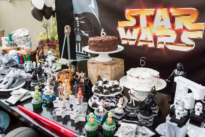 Star Wars Dessert + Favor Table from a Star Wars Birthday Party on Kara's Party Ideas | KarasPartyIdeas.com (33)