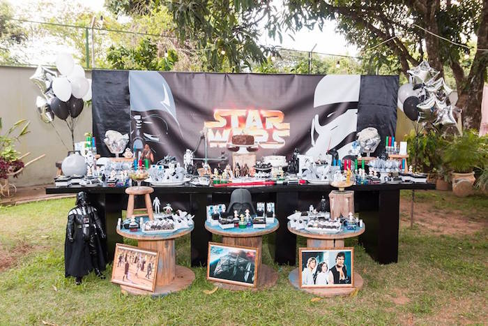 Star Wars Party Table from a Star Wars Birthday Party on Kara's Party Ideas | KarasPartyIdeas.com (30)