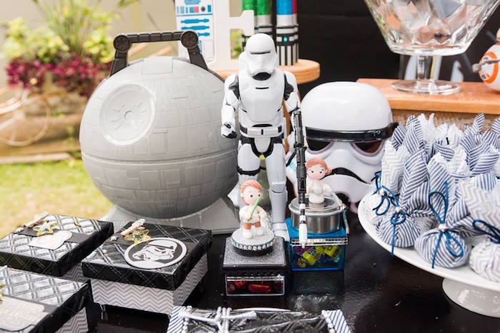 Death Star Decor from a Star Wars Birthday Party on Kara's Party Ideas | KarasPartyIdeas.com (28)