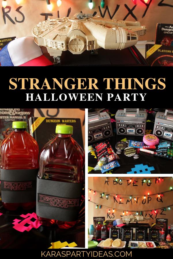 Stranger Things Halloween Party via Kara's Party Ideas - KarasPartyIdeas.com