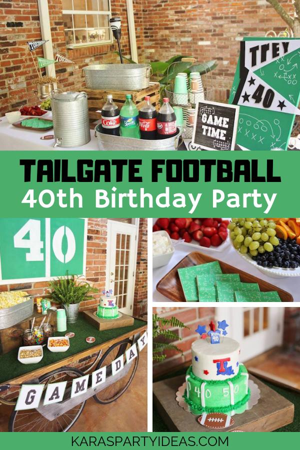 Tailgate Football 40th Birthday Party via Kara's Party Ideas - KarasPartyIdeas.com