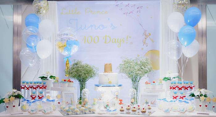 The Little Prince Birthday Party Table on Kara's Party Ideas | KarasPartyIdeas.com (13)