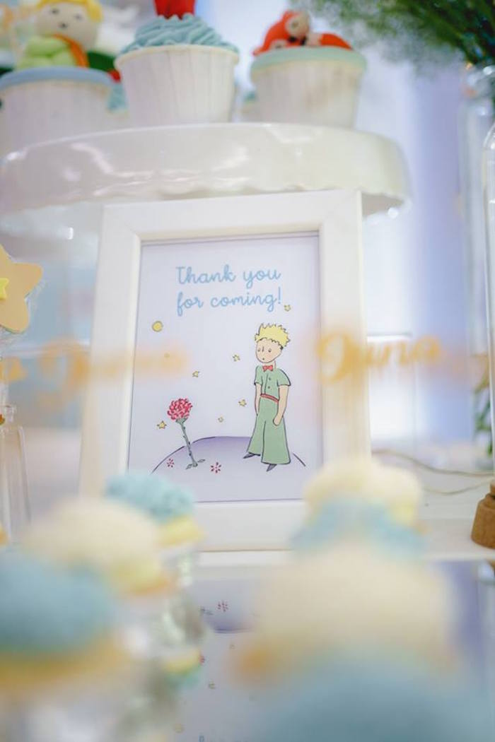 Little Prince Favor Table Print from The Little Prince Birthday Party on Kara's Party Ideas | KarasPartyIdeas.com (12)