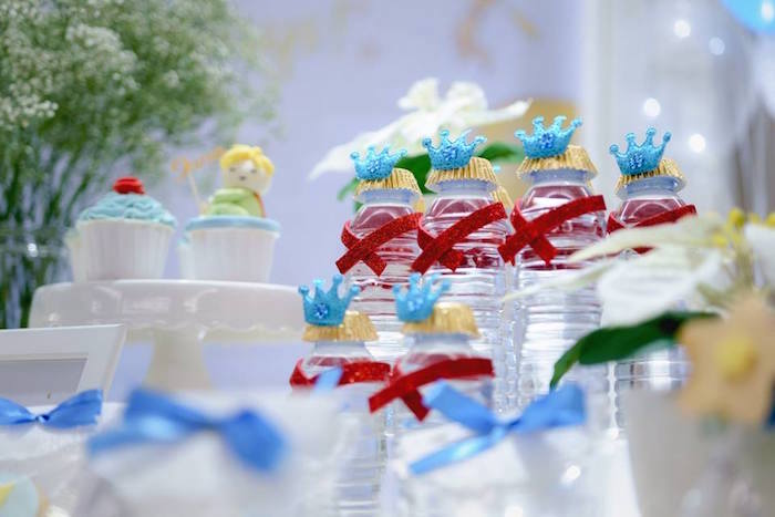 Little Prince Water Bottles from The Little Prince Birthday Party on Kara's Party Ideas | KarasPartyIdeas.com (11)