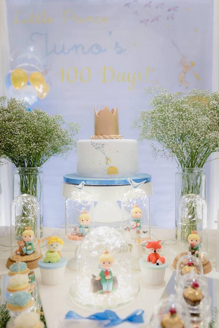 Prince Cake Table from The Little Prince Birthday Party on Kara's Party Ideas | KarasPartyIdeas.com (7)