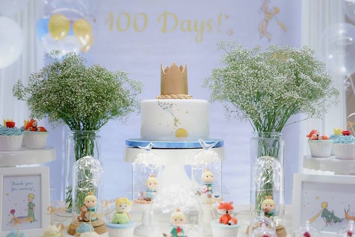 Prince Cake Table from The Little Prince Birthday Party on Kara's Party Ideas | KarasPartyIdeas.com (5)