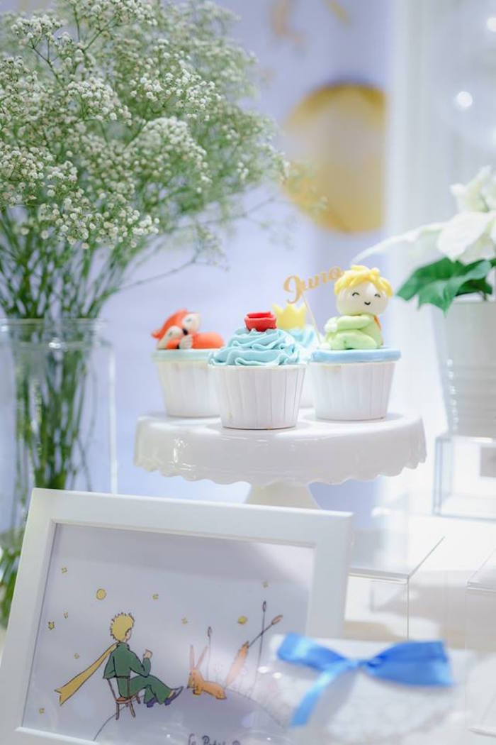 Cupcakes from The Little Prince Birthday Party on Kara's Party Ideas | KarasPartyIdeas.com (4)