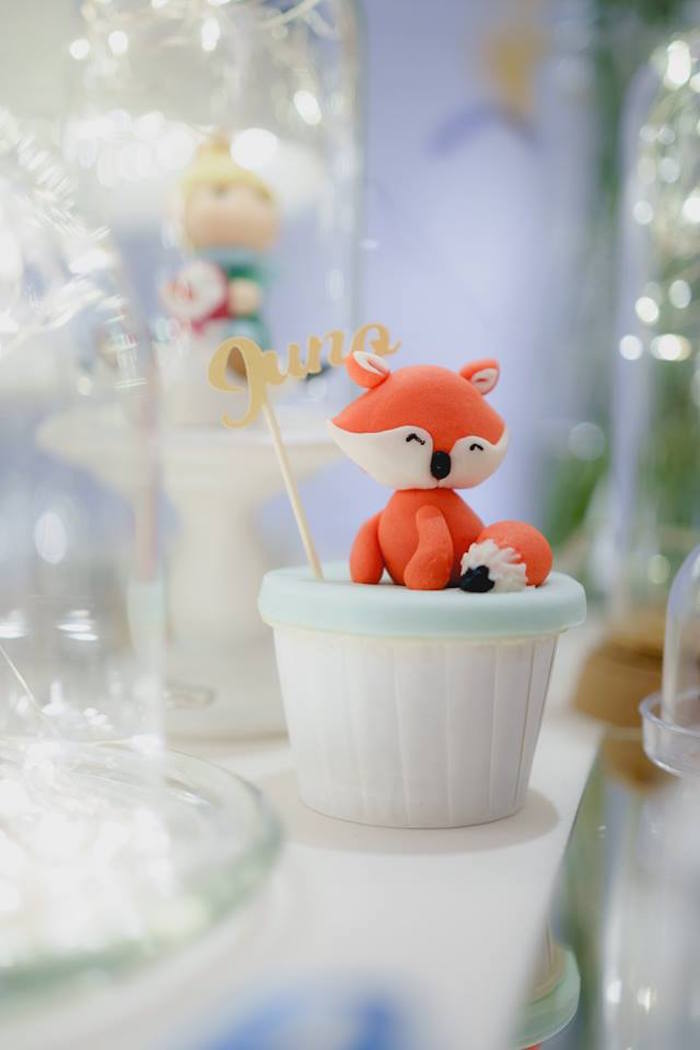 Fox Cupcake from The Little Prince Birthday Party on Kara's Party Ideas | KarasPartyIdeas.com (21)