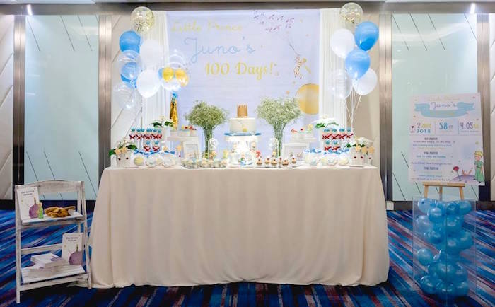The Little Prince-inspired Party Table from The Little Prince Birthday Party on Kara's Party Ideas | KarasPartyIdeas.com (20)