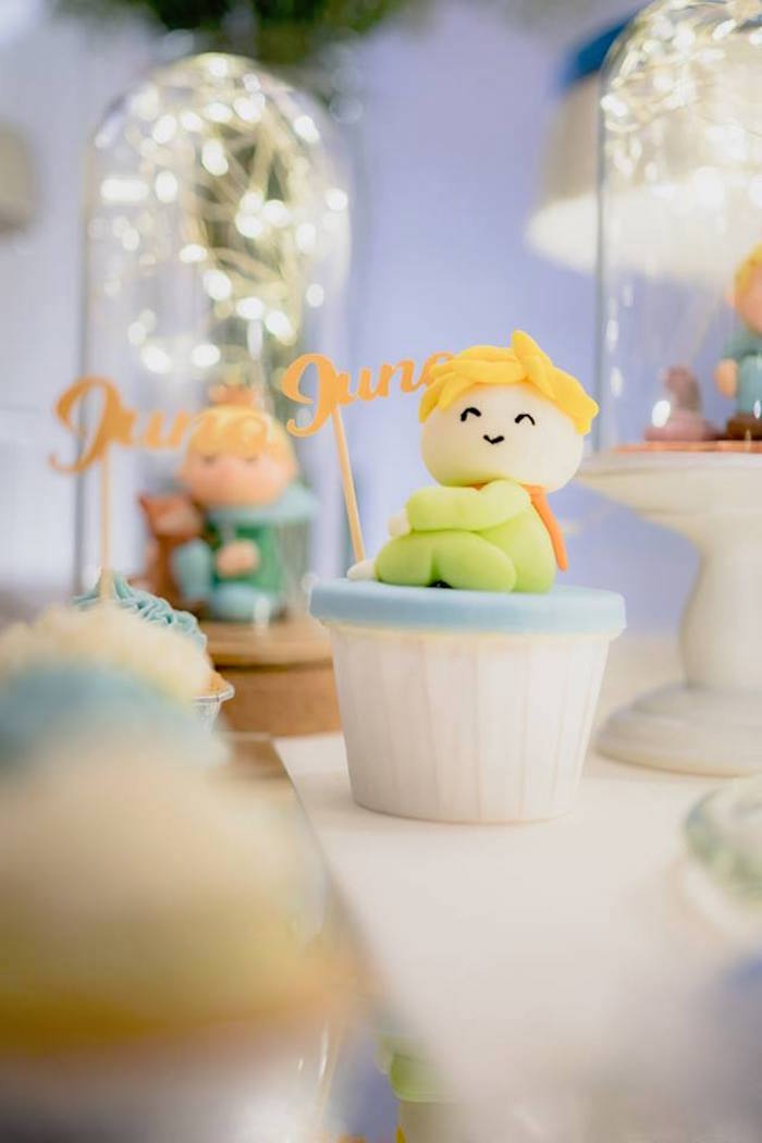 Little Prince Cupcake from The Little Prince Birthday Party on Kara's Party Ideas | KarasPartyIdeas.com (16)