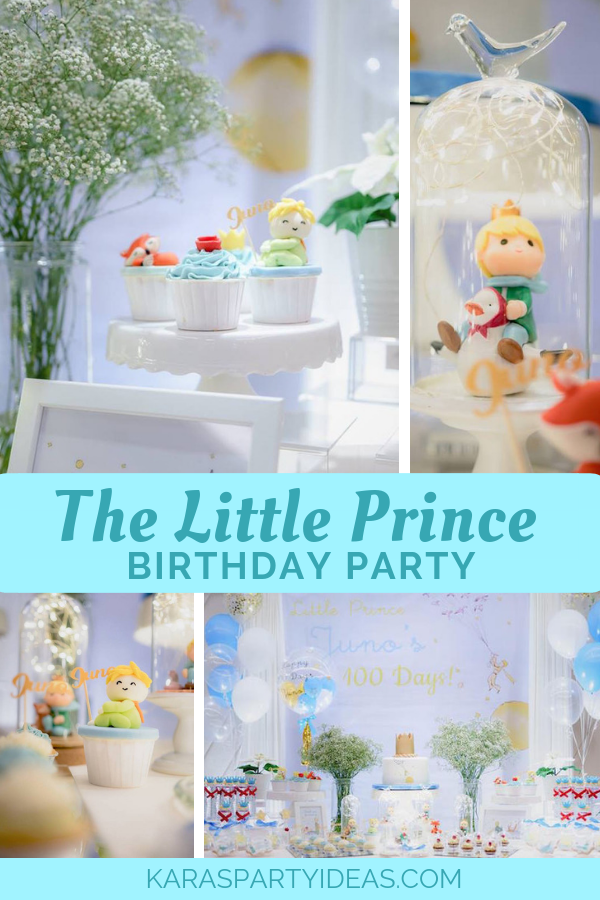 The Little Prince Birthday Party via Kara's Party Ideas - KarasPartyIdeas.com