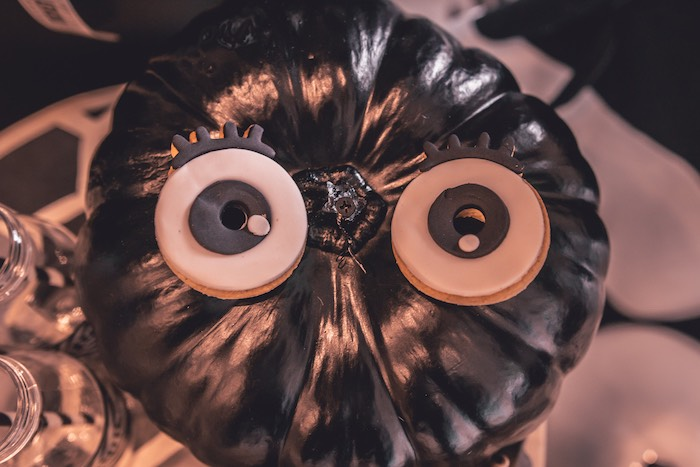 Cookie Eyed Owl Pumpkin from a Vintage Halloween Carnival Party on Kara's Party Ideas | KarasPartyIdeas.com (22)