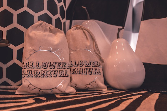 Halloween Carnival Favor Sacks from a Vintage Halloween Carnival Party on Kara's Party Ideas | KarasPartyIdeas.com (8)