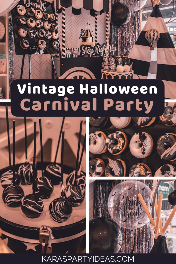 Vintage Halloween Carnival Party via Kara's Party Ideas - KarasPartyIdeas.com