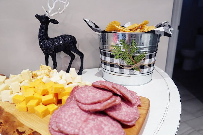 Meat & Cheese Platter from a Winter Plaid Indoor Camping Party on Kara's Party Ideas | KarasPartyIdeas.com (11)