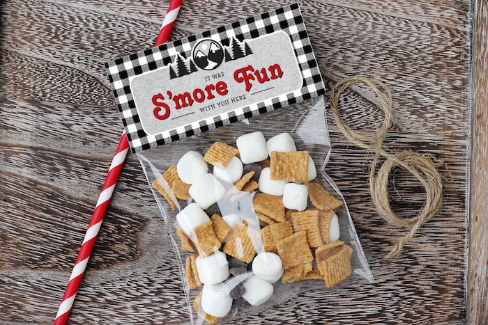 S'more Pack from a Winter Plaid Indoor Camping Party on Kara's Party Ideas | KarasPartyIdeas.com (5)