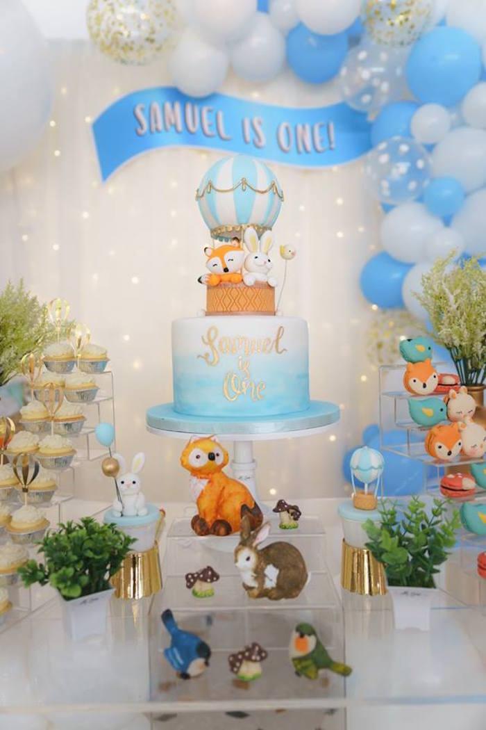 Woodland Hot Air Balloon Birthday Party on Kara's Party Ideas | KarasPartyIdeas.com (8)