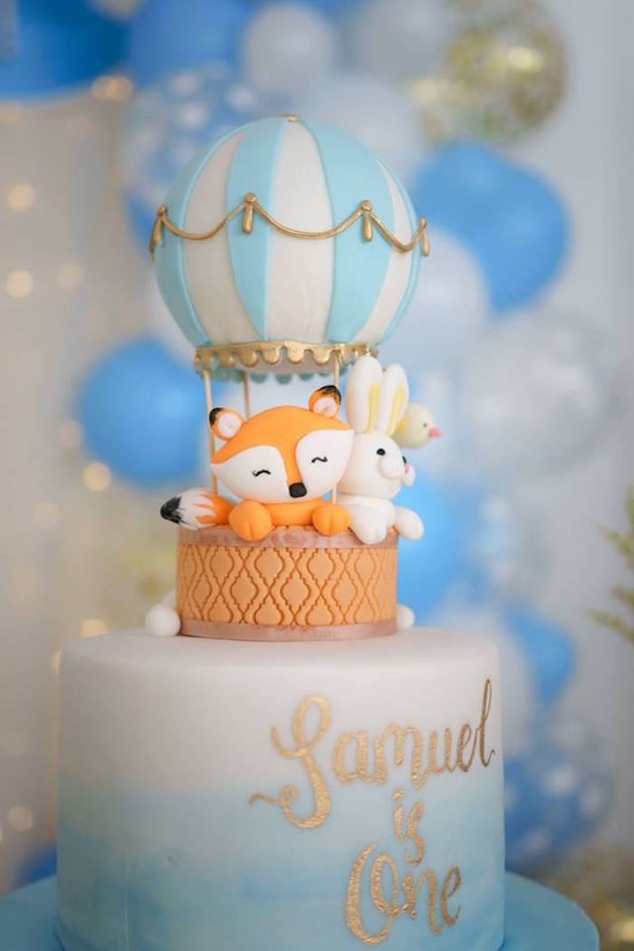 Kara S Party Ideas Woodland Hot Air Balloon Birthday Party