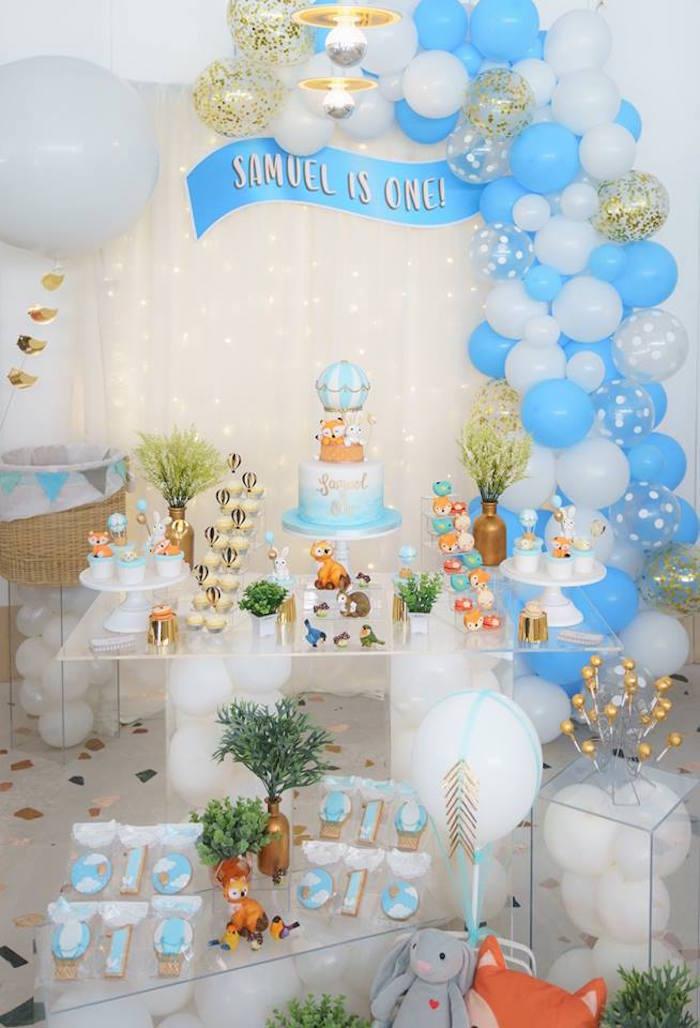 Woodland Hot Air Balloon Birthday Party on Kara's Party Ideas | KarasPartyIdeas.com (14)