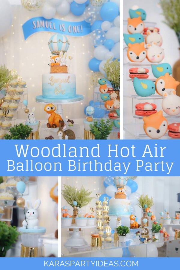 Woodland Hot Air Balloon Birthday Party via Kara's Party Ideas - KarasPartyIdeas.com