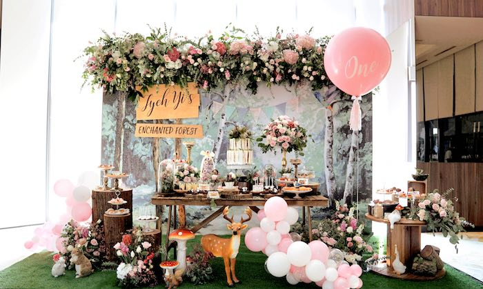 Enchanted Woodland Forest Birthday Party on Kara's Party Ideas | KarasPartyIdeas.com