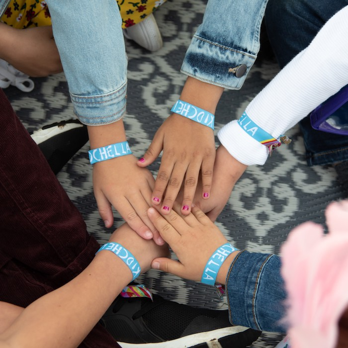 "Kidchella Wristbands from a ""Kidchella"" Boho Coachella Birthday Party for Kids on Kara's Party Ideas 