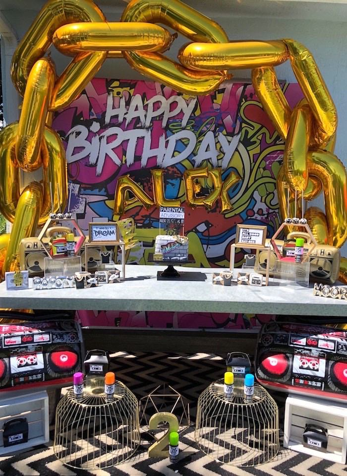 """TWO Legit to Quit"" 90's Rapper 2nd Birthday Party on Kara's Party Ideas 