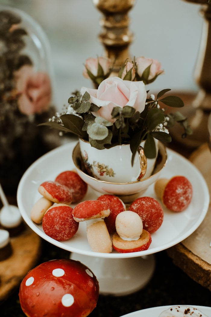 Toadstool Desserts from an Enchanted Woodland Forest Birthday Party on Kara's Party Ideas | KarasPartyIdeas.com