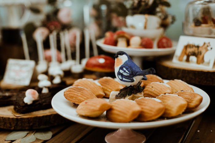 Woodland Madeleines from an Enchanted Woodland Forest Birthday Party on Kara's Party Ideas | KarasPartyIdeas.com