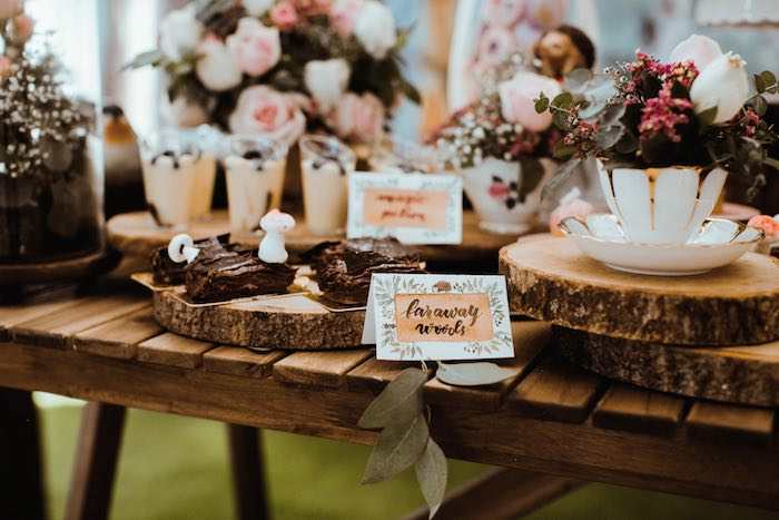 Desserts from an Enchanted Woodland Forest Birthday Party on Kara's Party Ideas | KarasPartyIdeas.com