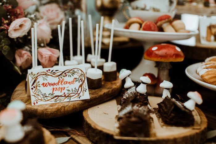 Woodland Dessert Pops from an Enchanted Woodland Forest Birthday Party on Kara's Party Ideas | KarasPartyIdeas.com