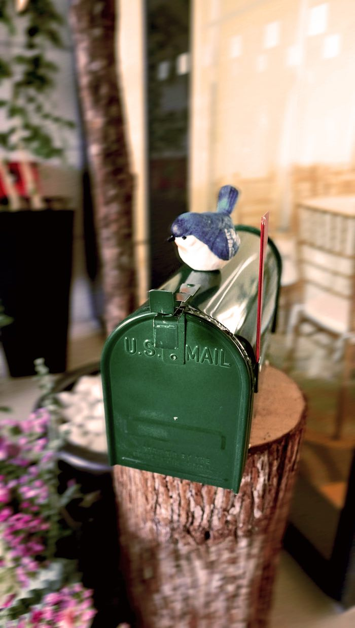 Bird & Mailbox Decoration from an Enchanted Woodland Forest Birthday Party on Kara's Party Ideas | KarasPartyIdeas.com