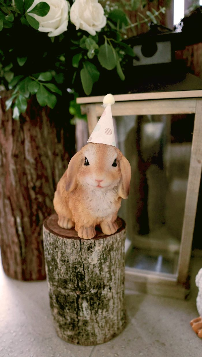 Woodland Bunny from an Enchanted Woodland Forest Birthday Party on Kara's Party Ideas | KarasPartyIdeas.com