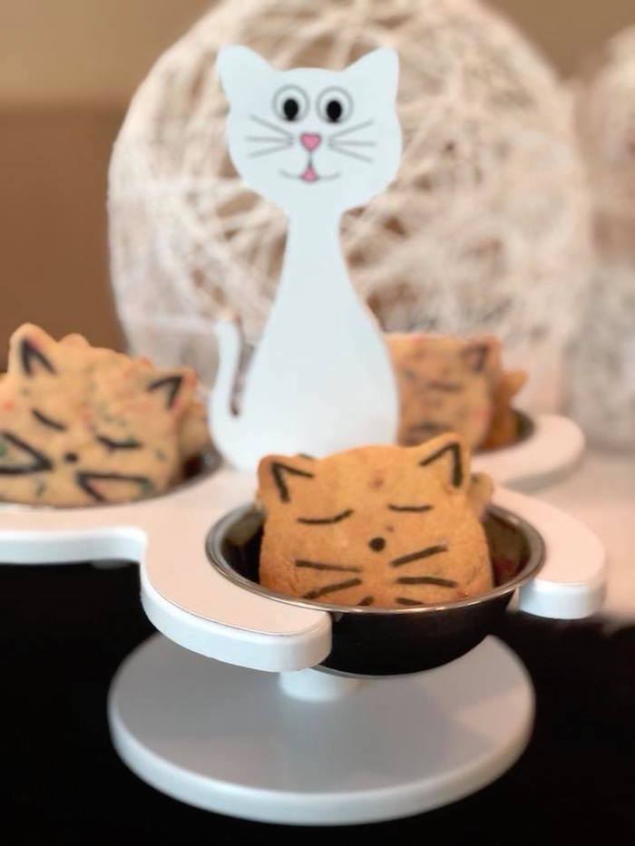 Cat Cookies from A Purrfect Pawty Kitty Cat Birthday Party on Kara's Party Ideas | KarasPartyIdeas.com (26)
