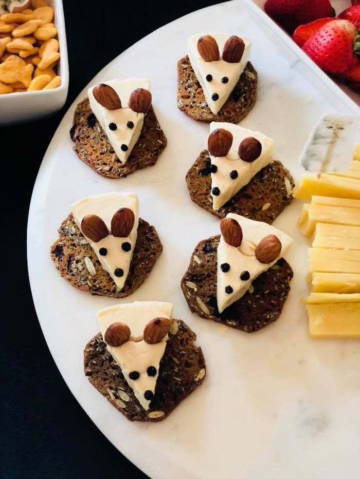 Cheese Mice from A Purrfect Pawty Kitty Cat Birthday Party on Kara's Party Ideas | KarasPartyIdeas.com (37)