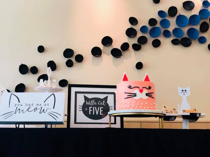 Cat Themed Dessert Table from A Purrfect Pawty Kitty Cat Birthday Party on Kara's Party Ideas | KarasPartyIdeas.com (18)