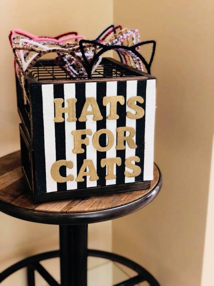 Cat Hats + Headbands from A Purrfect Pawty Kitty Cat Birthday Party on Kara's Party Ideas | KarasPartyIdeas.com (14)