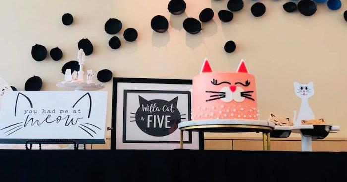A Purrfect Pawty Kitty Cat Birthday Party on Kara's Party Ideas | KarasPartyIdeas.com (6)