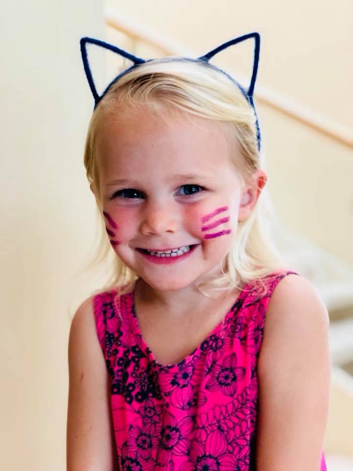 Cat Whiskers Face Paint from A Purrfect Pawty Kitty Cat Birthday Party on Kara's Party Ideas | KarasPartyIdeas.com (35)