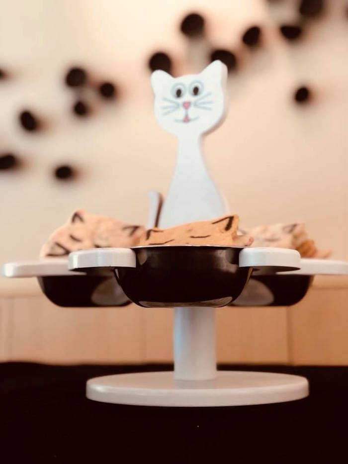 Cat Cookie Pedestal from A Purrfect Pawty Kitty Cat Birthday Party on Kara's Party Ideas | KarasPartyIdeas.com (32)