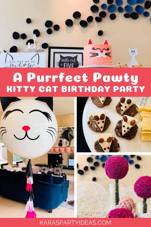 A Purrfect Pawty Kitty Cat Birthday Party via Kara's Party Ideas - KarasPartyIdeas.com