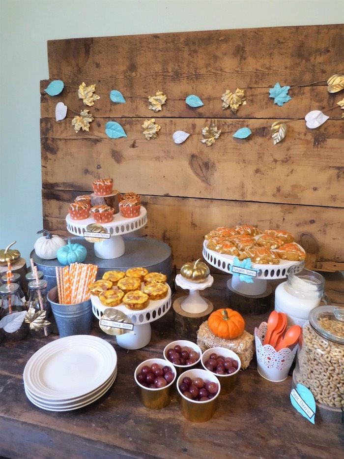 Rustic Fall Breakfast Bar on Kara's Party Ideas   KarasPartyIdeas.com