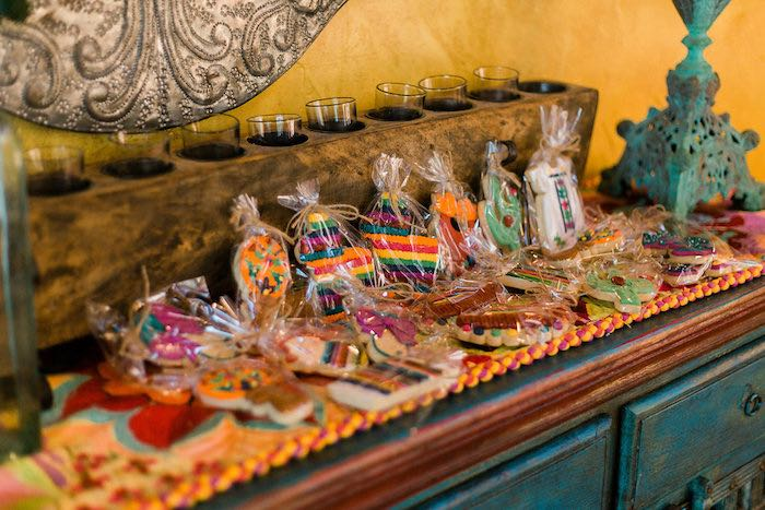 Cookie Favors from an Alebrije Mexican Folk Art Inspired Baby Shower on Kara's Party Ideas | KarasPartyIdeas.com (30)