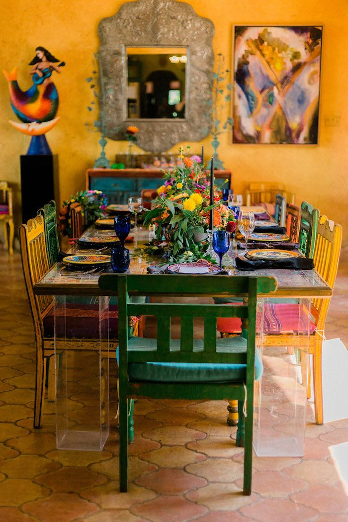 Mexican Party Table from an Alebrije Mexican Folk Art Inspired Baby Shower on Kara's Party Ideas | KarasPartyIdeas.com (24)