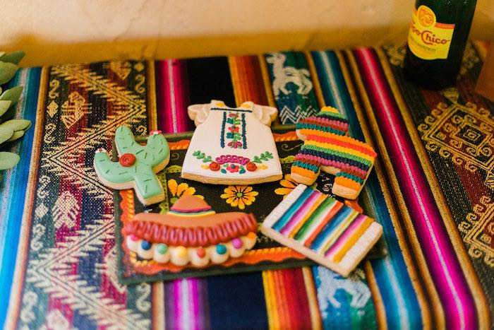 Mexican Themed Cookies from an Alebrije Mexican Folk Art Inspired Baby Shower on Kara's Party Ideas | KarasPartyIdeas.com (22)