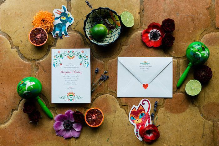 Invite from an Alebrije Mexican Folk Art Inspired Baby Shower on Kara's Party Ideas | KarasPartyIdeas.com (47)